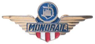 Disneyland Monorail Pilot Wings Hat Pin. Disneyland,