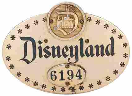 Disneyland Cast Member Pin. Disneyland, ca. 1950s. Very