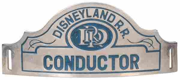 Disneyland Railroad Conductor Hat Badge. Disneyland,