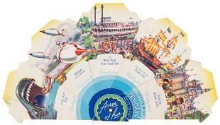 Original Acres of Fun Disneyland 1955 Souvenir. Created