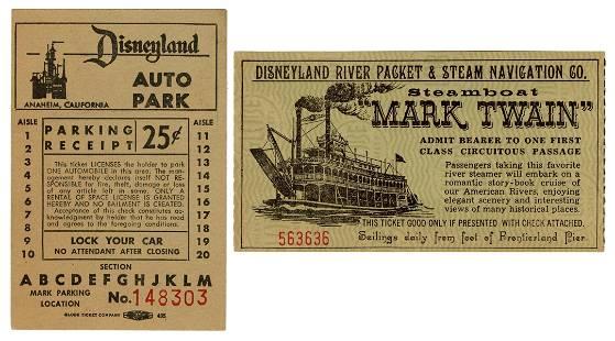 "Disneyland ""Mark Twain"" Steamboat Ticket"