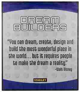 "Epcot ""Dream Builders"" Walt Disney Quote"