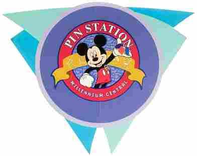 "Epcot ""Pin Station"" Sign. Walt Disney"