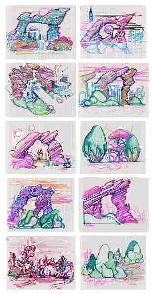 Original Dan Gouzee Concept Art for Tomorrowland 55.