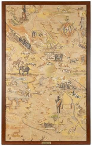 Animal Kingdom Lodge Wallpaper Map.