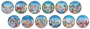 Set of Walt Disney World 25th Anniversary Dishes (12).