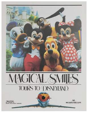"""Pacific Southwest Airlines / Disneyland """"Magical"""