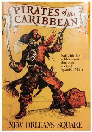 Pirates of the Caribbean Attraction Poster. Full–