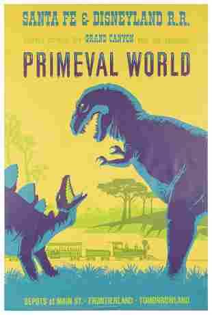 Primeval. Walt Disney Productions, 1966. Silkscreened