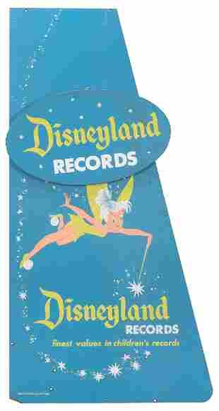 Disneyland Records Display Rack Panel Sign. Walt Disney