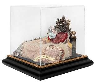 HARDIN, Terri (American, b. 1957). Skeleton in Bed.