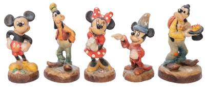 ANRI Lot of Handcrafted Wooden Disney Miniature