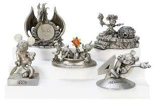 Lot of 5 Disneyana Pewter Figurines. Includes Mickey