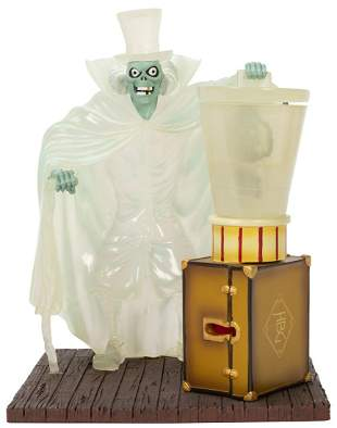 The Haunted Mansion Hatbox Ghost O-Pin House Figurine.
