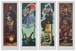 Lot of 4 Haunted Mansion Stretching Portrait