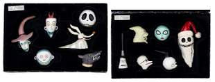 The Nightmare Before Christmas Ceramic Heads. Two boxes
