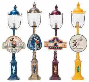 Collection of Pride Lines Disney Lamps. Four lamps.