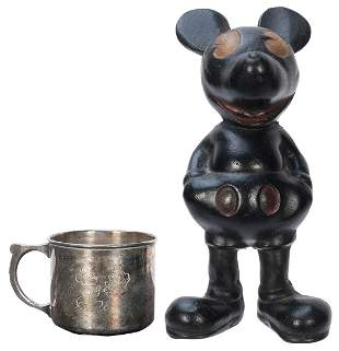 Pair of Mickey Mouse Items. Circa 1930s. Includes