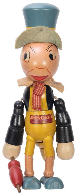 Walt Disney Jiminy Cricket Articulated Toy Figure.