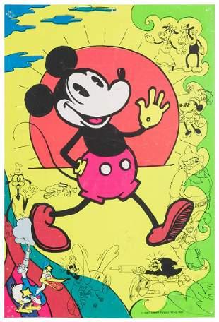 Mickey Mouse Blacklight Poster. 1969. Walt Disney