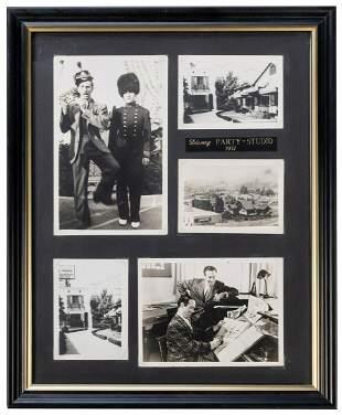 Framed Walt Disney Photographs. Circa 1950s. Later