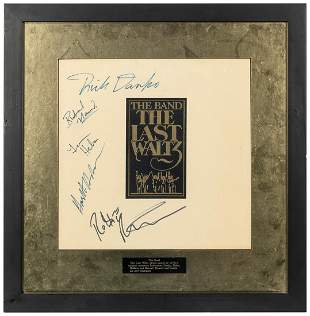 The Band The Last Waltz Album Display. Signed by Robbie
