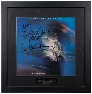 Paul and Linda McCartney Concert Program. 1993. Signed