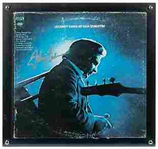 Johnny Cash Live at San Quentin Album. Signed on front