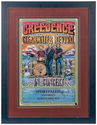 Creedence Clearwater Revival Concert Poster. San