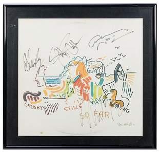 Crosby, Stills, Nash and Young So Far Album Display.