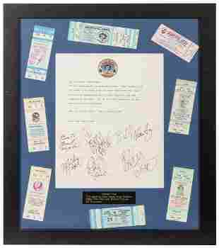 Grateful Dead Concert Tickets and Letter Display. A