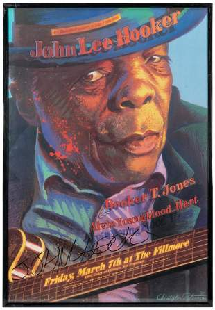 John Lee Hooker Concert Poster. Advertises March 7,