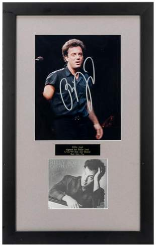 Billy Joel Photo Display. 1999. Photograph signed in