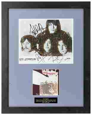 Led Zeppelin Publicity Still Display. Publicity still