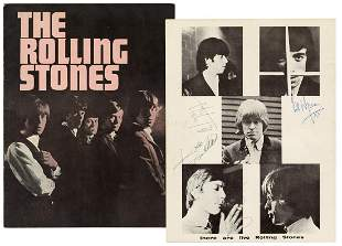 The Rolling Stones Signed First U. S. Tour Program. New