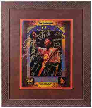 Santana The Celebration Poster. Signed by Carlos