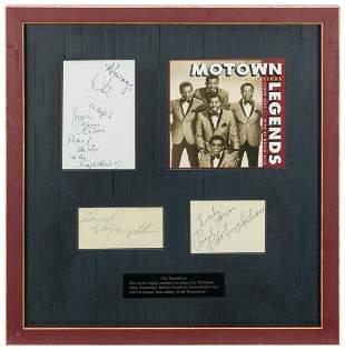 The Temptations Autograph Display. Signatures of Otis