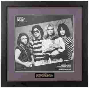 Van Halen Album Sleeve. From Van Halen's 1982