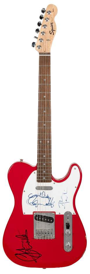 The Who Electric Guitar. Red Fender Squier Telecaster