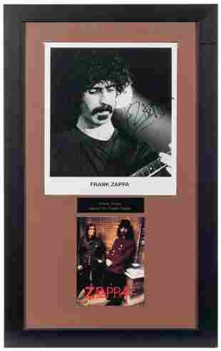 Frank Zappa Publicity Still Display. Black and white