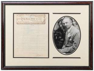 Florenz Ziegfeld Typed Letter Signed. Chicago, 1889.