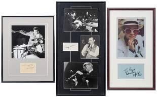 Six Autograph Displays of Musicians. Autograph displays