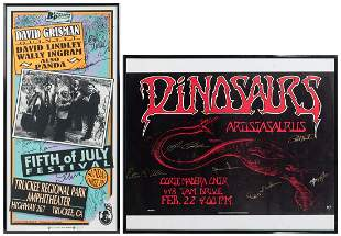 Pair of Signed Concert Posters. Includes framed poster