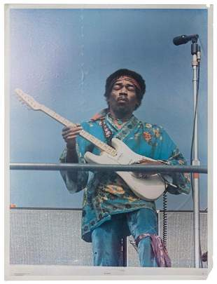 GOFF, Kevin. Oversized Jimi Hendrix Poster. One Stop