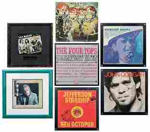 Lot of Signed Album Covers. Fourteen album covers by