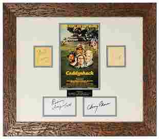 Caddyshack Cast Display. Signatures of Chevy Chase,