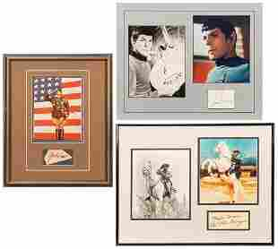 Eight Autograph Displays of Actors and Entertainers.
