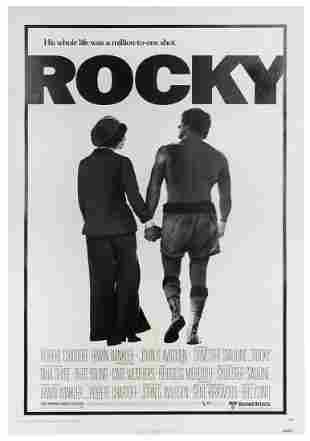 Rocky. United Artists, 1977. One-sheet poster in
