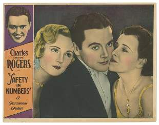 Safety in Numbers. Paramount, 1930. Lobby card (11 x