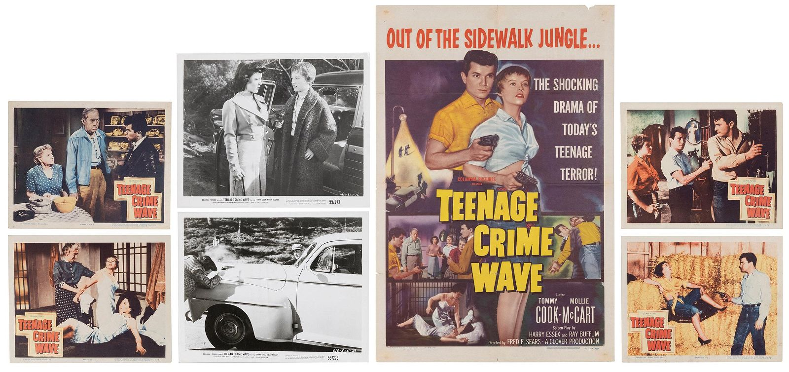 Teenage Crime Wave Movie Poster, Lobby Card, and